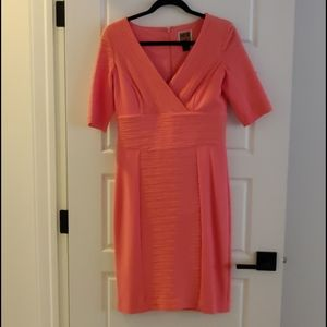 NUE by Shani Coral Ruched Cocktail Dress sz 8